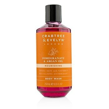 Crabtree & Evelyn Pomegranate & Argan Oil Nourishing Body Wash  250ml/8.5oz
