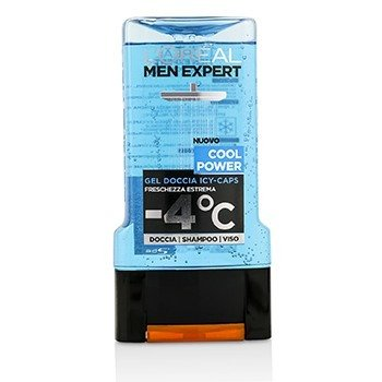 Men Expert Shower Gel - Cool Power (For Body, Face & Hair)  300ml/10.1oz