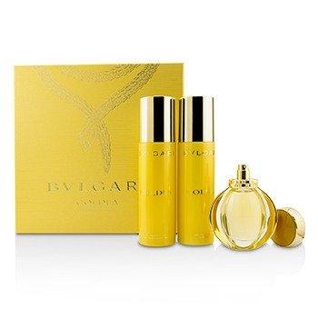 Bvlgari Goldea Coffret: Eau De Parfum Spray 50ml + Body Milk 200ml + Bath & Shower Gel 200ml  3pcs