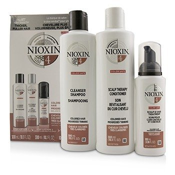 3D Care System Kit 4 - For Colored Hair, Progressed Thinning, Balanced Moisture  3pcs