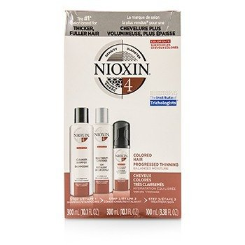 Nioxin 3D Care System Kit 4 - For Colored Hair, Progressed Thinning, Balanced Moisture  3pcs