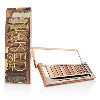 Naked Heat Palette: 12x Eyeshadow, 1x Doubled Ended Blending / Detailed Crease Brush  -