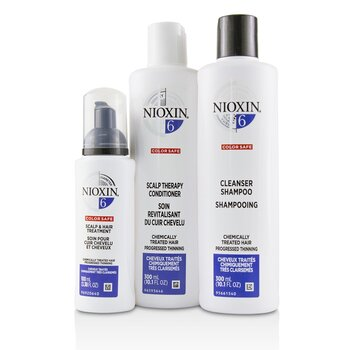 3D Care System Kit 6 - For Chemically Treated Hair, Progressed Thinning  3pcs