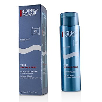 Homme T-Pur Anti Oil & Shine Ultra Absorbing & Mattifying Moisturizer Gel  100ml/3.38oz