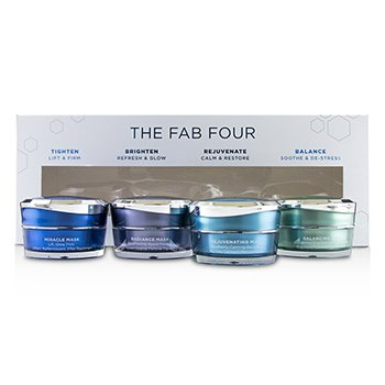 The Fab Four Multi-Benefit Mask Collection: Miracle Mask + Radiance Mask + Rejuvenating Mask + Balancing Mask  4pcs