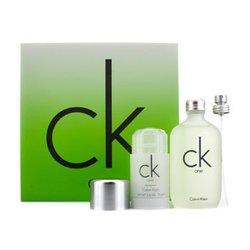 Calvin Klein CK One Coffret: Eau De Toilette Spray 100ml/3.4oz + Deodorant Stick 75g/2.6oz  2pcs