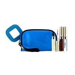 Kanebo Lip Gloss Set With Blue Cosmetic Bag (3xMode Gloss, 1xCosmetic Bag)  3pcs+1bag