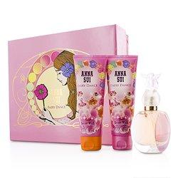 Anna Sui Secret Wish Fairy Dance Coffret: Eau De Toilette Spray 50ml/1.7oz + Body Lotion 90ml/3oz + Shower Gel 90ml/3oz (Pink Box)  3pcs