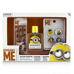 Air Val International Minions Coffret: Eau De Toilette Spray 50ml/1.7oz + Magnets + Stickers  3pcs