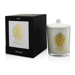 Tiziana Terenzi Glass Candle with Gold Decoration & Wooden Wick - Spicy Snow (White Glass)  170g/6oz