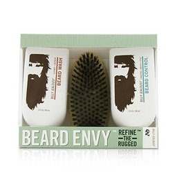 Billy Jealousy Beard Envy Kit: Beard Wash 88ml + Beard Control 88ml + brush 1pcs  3pcs