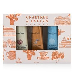 Crabtree & Evelyn Bestsellers Hand Therapy Set (1x Caribbean Island Wild Flowers, 1x Gardeners, 1x La Source)  3x25g/0.9oz