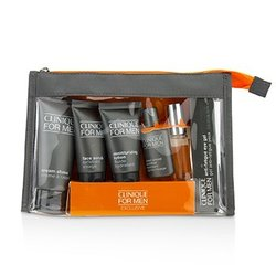 Clinique Clinique For Men Exclusive Travel Set: Moisturizing Lotion+Eye Gel+Post-Shave Soother+Face Scrub+Cream Shave+Cologne Spray  6pcs