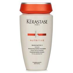 Kerastase Nutritive Bain Satin 2 Exceptional Nutrition Shampoo (For Dry, Sensitised Hair)  250ml/8.5oz