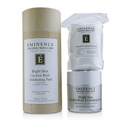 Eminence Bright Skin Licorice Root Exfoliating Peel (with 35 Dual-Textured Cotton Rounds)  50ml/1.7oz
