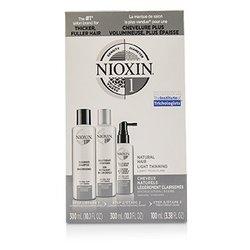 Nioxin 3D Care System Kit 1 - For Natural Hair, Light Thinning, Light Moisture  3pcs
