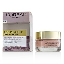 L'Oreal Age Perfect Cell Renewal Rosy Tone Moisturizer - For Mature, Dull Skin  48g/1.7oz