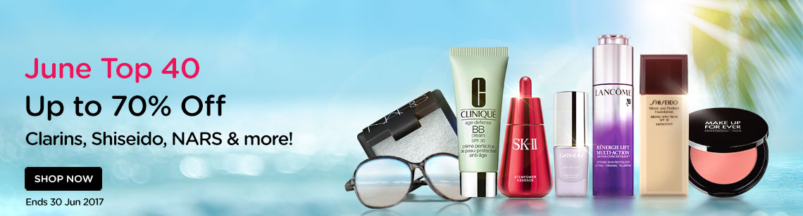 Up to 75% Off! Clarins, Shiseido, NARS & more!