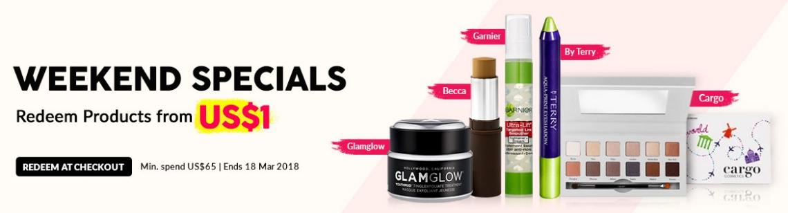 weekend specials glamglow youthmud becca foundation stick garnier line smoother by terry eyeshadow cargo eye shadow palette