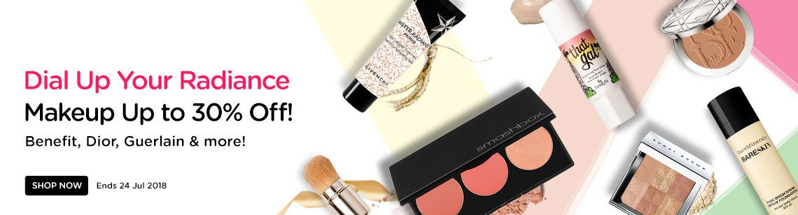 Dial Up Your Radiance Up to 30% Off! Youngblood, Benefit, Cle de Peau, Guerlain & more! Ends 24 Jul 2018