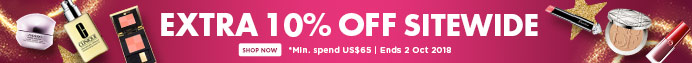 THE BIG SALE: Extra 10% Off Everything! *Min. spend US$65 | Ends 2 Oct 2018