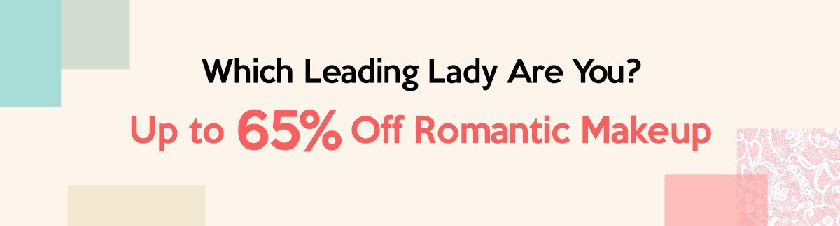 Which Leading Lady Are You? Up to 65% Off Romantic Makeup