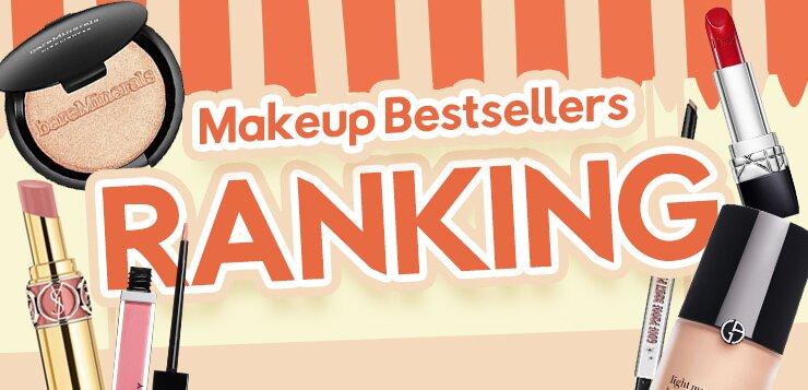 ranking, makeup bestsellers, top picks, eyeshadow, mascara, eyeliner, foundation, highlight, palette, skincare, makeup, fragrance, haircare, beauty, sale