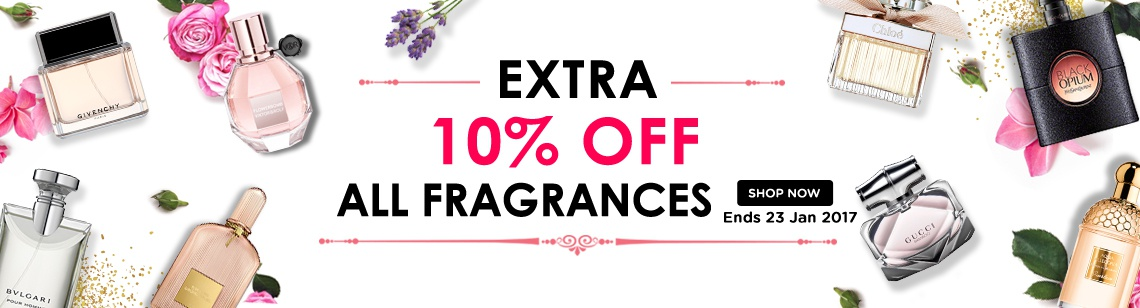 extra 10 percent off fragrance