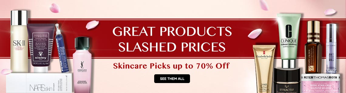 Bargain Skincare Picks Up to 70% Off