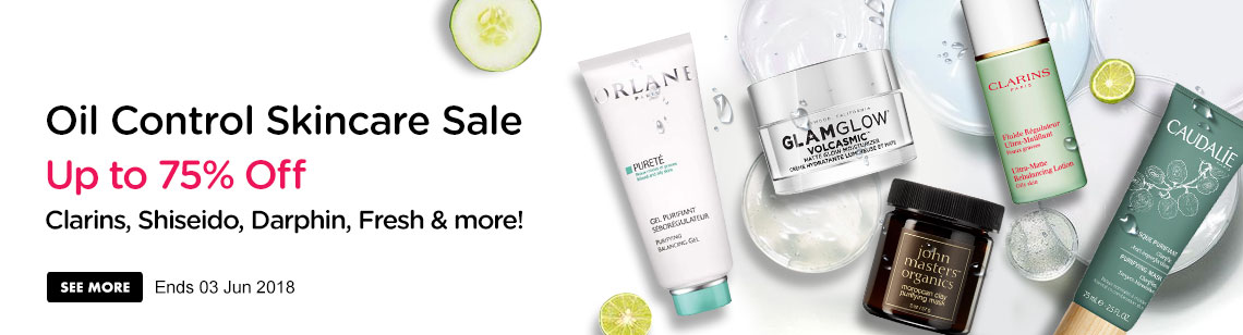 Oil Control Skincare Sale Up to 75% Off! Brand, brand, brand & more! Ends 23 May 2018