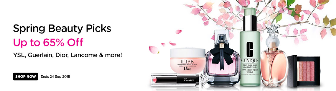Spring Beauty Picks Up to 65% Off! YSL, Peter Thomas Roth, Payot, Lancome & more! Ends 24 Sep 2018