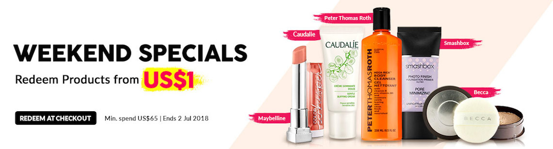 Weekend beauty specials from US$1 eve lom cleanser crabtree & evelyn hand therapy biotherm biosource fresh face essence becca concealer