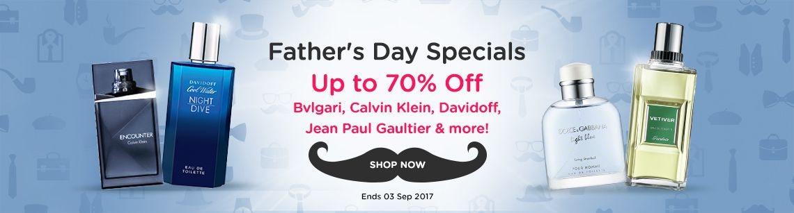 Fathers day gift specials calvin klein encounter Davidoff night dive dolce and gabbana light blue vetiver guerlain
