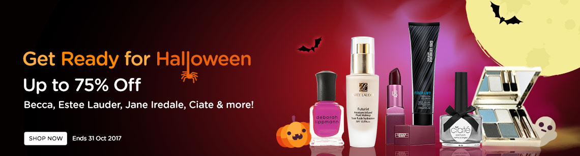 get ready for halloween makeup clarins quartet mineral pallete becca powder ciate nail polish cheeky nail polish