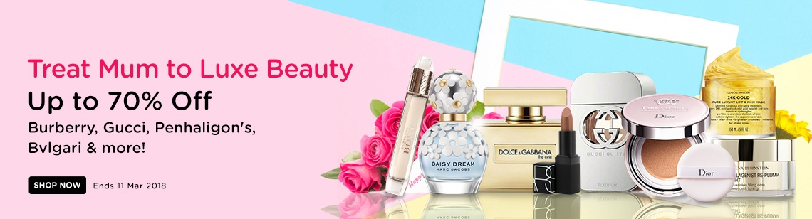 uk mothers day burberry body marc jacobs daisy dream dolce & gabbana the one nars lipstick gucci guilty dior cushion 24 gold mask