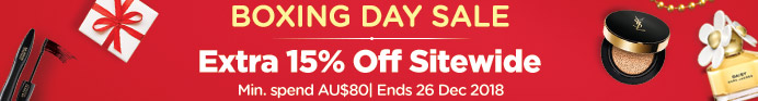 Boxing Day Sale: Extra 15% Off Sitewide! Min. spend AU$80 | Ends 26 Dec 2018