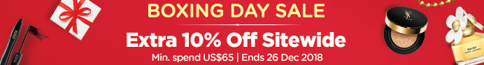 Boxing Day Sale: Extra 10% Off Sitewide! Min. spend US$65 | Ends 26 Dec 2018