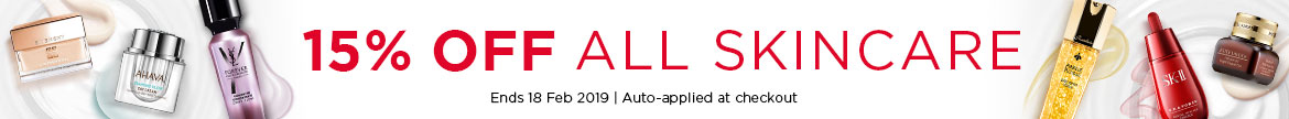 Extra 15% Off All Skincare! Ends 18 Feb 2019 | Auto-applied at checkout