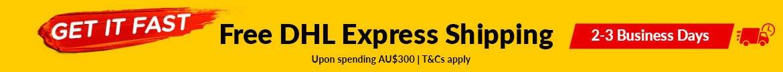 Free DHL Express Shipping