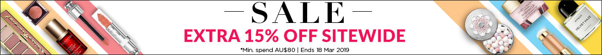 Extra 15% Off Everything! *Min. spend AU$80 | Ends 18 Mar 2019