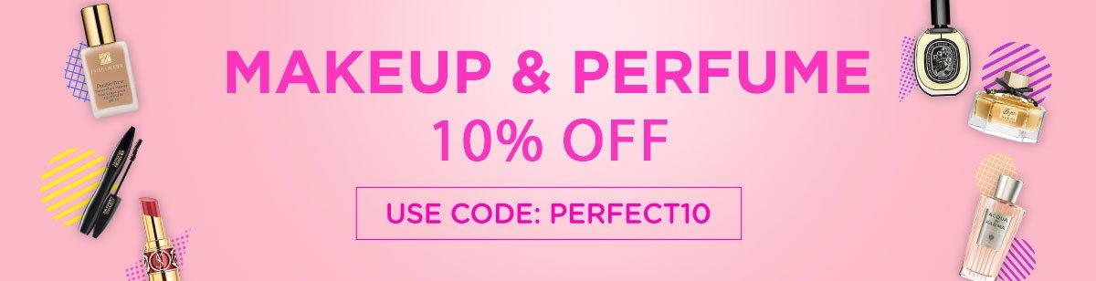 10% Off All Perfume & Makeup