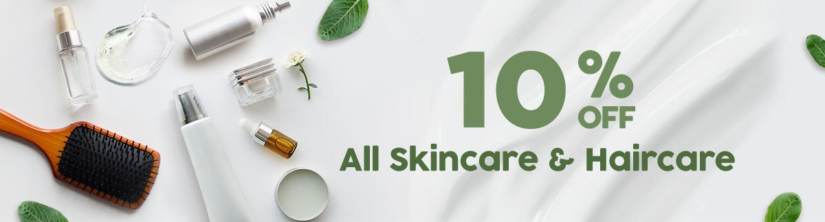 {10% Off Skincare & Haircare