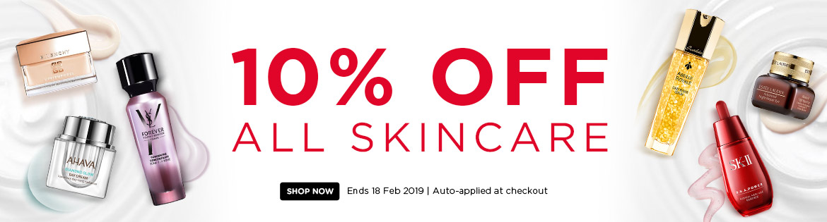 Extra 10% Off All Skincare! Ends 18 Feb 2019 | Auto-applied at checkout