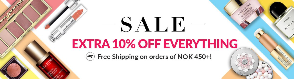 Extra 10% Off Everything This Weekend only Free Shipping on orders of NOK 450+!