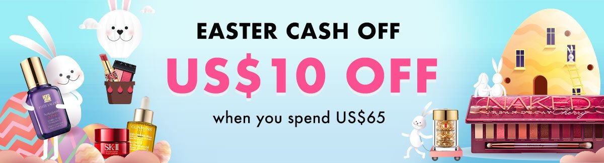 Easter sale, easter cash off, skincare, makeup, perfume, up to 80% off, sale, beauty