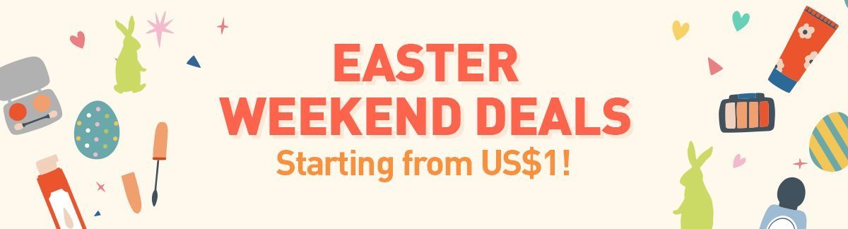 Happy Easter Weekend, easter deals, Easter long weekend, Easter deals from US$1