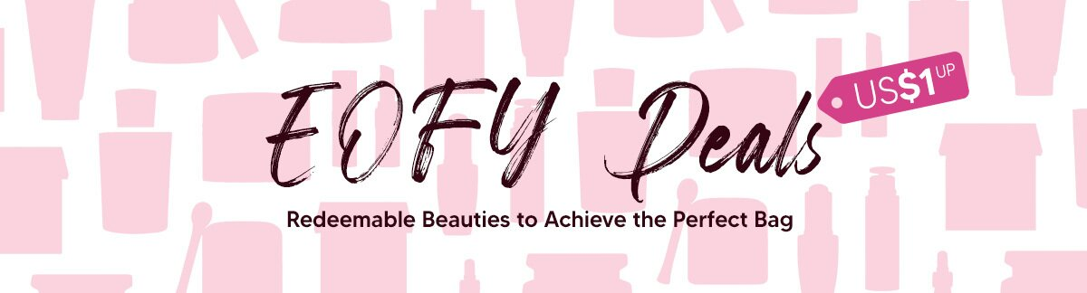 EOFY Sale, Weekend deals, redemption, US$1 deals, weekend shopping, shiseido, clarins, mother's day