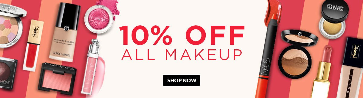 10% OFF ALL MAKEUP