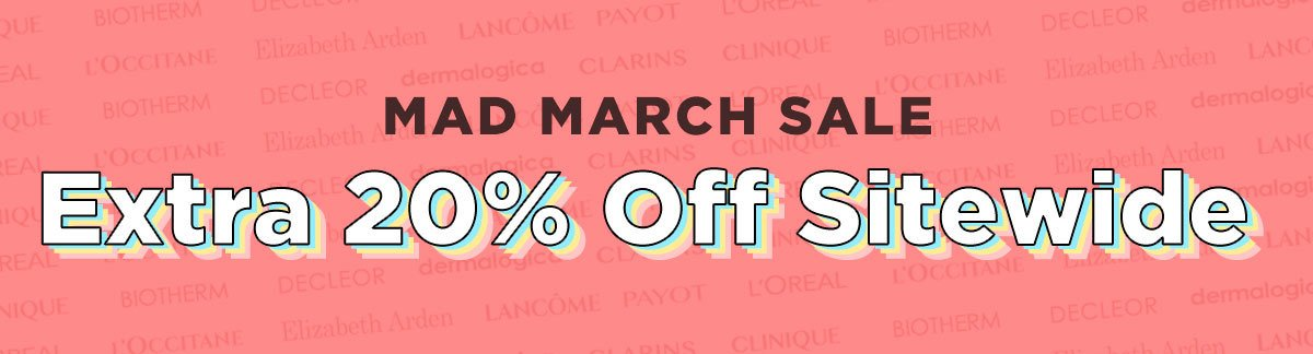 20% Off EverythingMad March Sale