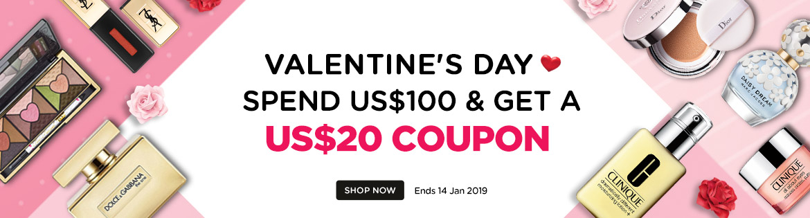 Valentine's Day Early Bird Coupon: Spend US$120, Get a US$20 Coupon! Ends 14 Jan 2019   Coupon will be sent out on 1 Feb 2019